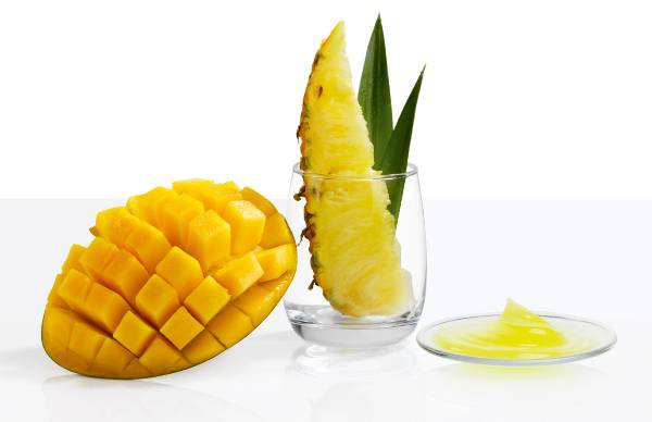 Pineapple and mango